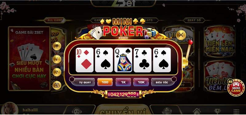 Cách chơi Mini Poker dễ dàng chỉ trong 10s